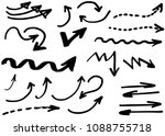 doodle hand drawn vector arrows ... | Shutterstock .eps vector #1088755718