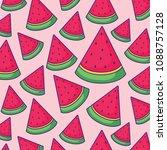 watermelon patterns design | Shutterstock .eps vector #1088757128