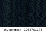 01 or binary data on the... | Shutterstock . vector #1088761175