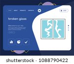 quality one page broken glass... | Shutterstock .eps vector #1088790422