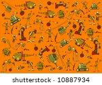 wallpaper with warfare elements   Shutterstock . vector #10887934