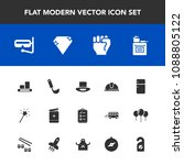 modern  simple vector icon set... | Shutterstock .eps vector #1088805122