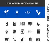 modern  simple vector icon set... | Shutterstock .eps vector #1088818442