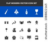 modern  simple vector icon set... | Shutterstock .eps vector #1088822165