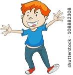 Illustration Of A Boy On A...