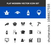modern  simple vector icon set... | Shutterstock .eps vector #1088827535