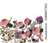 botanical floral illustration... | Shutterstock .eps vector #1088847302