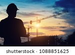 Silhouette Engineer Standing...