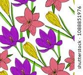 vector seamless natural pattern ... | Shutterstock .eps vector #1088851976
