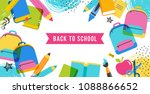 back to school and educational... | Shutterstock .eps vector #1088866652