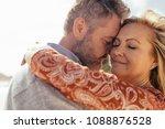 affectionate senior couple... | Shutterstock . vector #1088876528