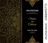 save the date invitation card... | Shutterstock .eps vector #1088890772