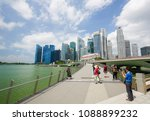 marina bay  singapore   april...   Shutterstock . vector #1088899232