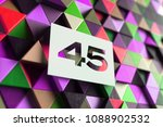 number 45 on the purple and... | Shutterstock . vector #1088902532