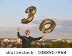 man celebrates thirty years... | Shutterstock . vector #1088907968