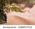 aerial   three cliffs bay ...   Shutterstock . vector #1088915765