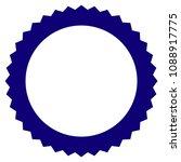 rosette seal frame template.... | Shutterstock .eps vector #1088917775