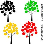 nature tree vector set | Shutterstock .eps vector #1088919305