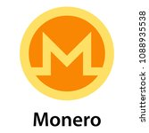 monero icon. flat illustration... | Shutterstock . vector #1088935538