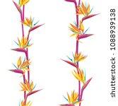 tropical flower bird of... | Shutterstock .eps vector #1088939138