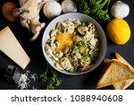 mushrooms with egg yolk and... | Shutterstock . vector #1088940608