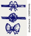set gift bows with ribbons. | Shutterstock .eps vector #108894446