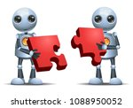 illustration of a happy droid... | Shutterstock .eps vector #1088950052