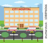 two ambulance cars parking near ... | Shutterstock .eps vector #108896066