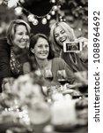 summertime. group of friends... | Shutterstock . vector #1088964692