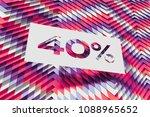 white paper 40  symbol on... | Shutterstock . vector #1088965652