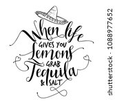 when life gives you lemons grab ... | Shutterstock .eps vector #1088977652