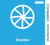 shutter vector icon isolated on ... | Shutterstock .eps vector #1088982812