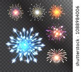 firework vector illustration... | Shutterstock .eps vector #1088984006