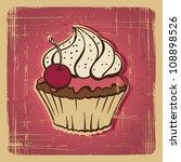 vector illustration of cupcake... | Shutterstock .eps vector #108898526