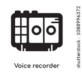 voice recorder icon isolated on ...   Shutterstock .eps vector #1088996372