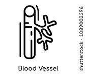 blood vessel icon isolated on... | Shutterstock .eps vector #1089002396