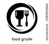 food grade symbol isolated on... | Shutterstock .eps vector #1089003866
