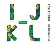 vector graphic alphabet in a... | Shutterstock .eps vector #1089017525