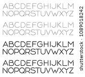 2 vector editable stroke line... | Shutterstock .eps vector #1089018242
