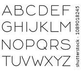 vector editable stroke line... | Shutterstock .eps vector #1089018245