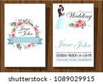 wedding invitation card suite... | Shutterstock .eps vector #1089029915