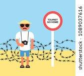 tourist go home   negative...   Shutterstock .eps vector #1089037616