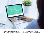 doctor online checkup health on ... | Shutterstock . vector #1089046562