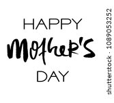 happy mothers day greeting card.... | Shutterstock .eps vector #1089053252