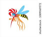 mosquito sad disappointed bored ... | Shutterstock .eps vector #1089069572