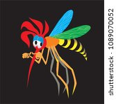 mosquito sad bored disappointed ... | Shutterstock .eps vector #1089070052