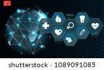 digital futuristic background... | Shutterstock .eps vector #1089091085
