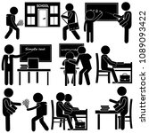 school every day life ... | Shutterstock .eps vector #1089093422