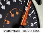 speedometer of a truck at... | Shutterstock . vector #1089111356