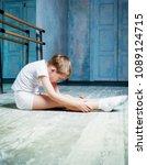 boy ballet dancer doing... | Shutterstock . vector #1089124715